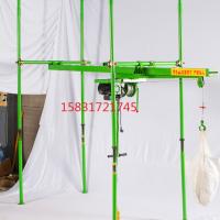500公斤吊沙机高层楼房小型吊机室内四柱直滑式小吊机